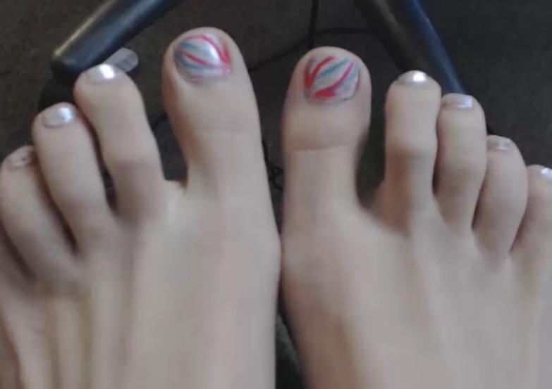 Mooi gelakte nagels